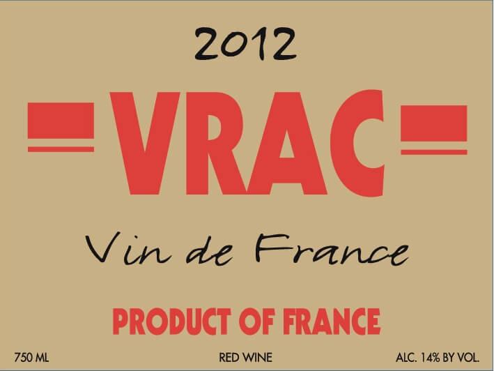 VRAC Vin de France